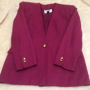 Kasper Raspberry Suit Jacket Size 2